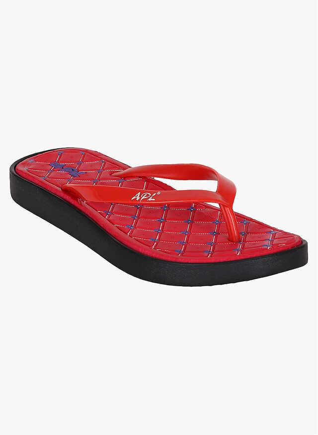Buy Women Apl Red Comfort Sandals